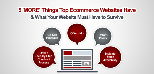 5 'MORE' Things Top Ecommerce Websites Have & What Your Website Must Have to Survive