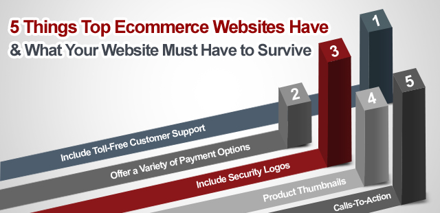 5 Things Top Ecommerce Websites Have & What Your Website Must Have to Survive